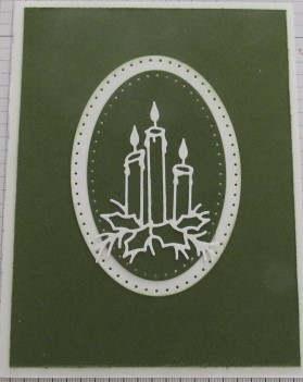 Candle Christmas Card-Green