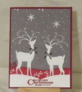 Christmas Card-Two Deer
