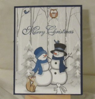 Christmas Card-Two Snow People