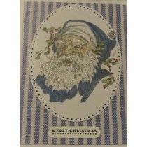 Santa Christmas Card-Blue