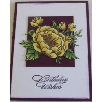 Birthday Wishes-Yellow Flower