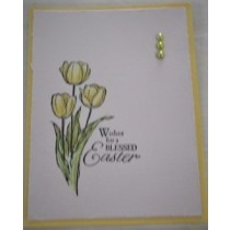 Easter Card-Yellow Tulps