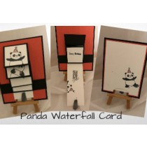 Panda Waterfall Birthday Card
