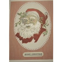 Red Santa Christmas Card