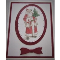 Santa Christmas Card with bow